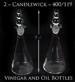 Candlewick 400/119 ~ 2 Oil & Vineger Salad Bottles