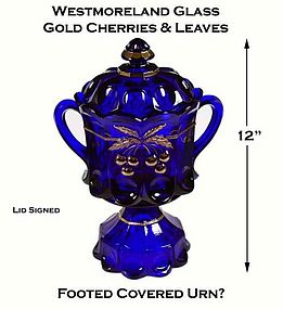 Westmoreland Cobalt GD Cherry & Cable FTD Cookie Jar