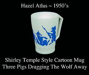 Hazel Atlas Youth Mug The Three Pigs Capture the Wolf