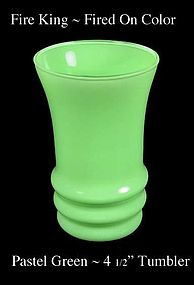 Fire King Fired On Color ~ Pastel Green Water Tumbler
