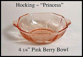 """Hocking ~ Pink Princess ~ 4 1/4"""" Berry Bowl"""