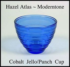 Hazel Atlas Moderntone Cobalt Jello Punch Cup
