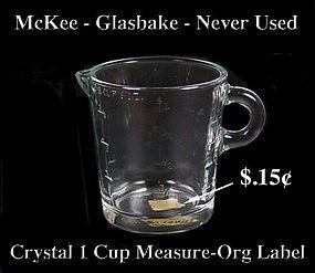 McKee 1950s Glasbake Crystal 1 Cup Measure-Org Price