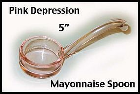 Depression Era Pink Mayonnaise Spoon