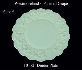 "Westmoreland ""Paneled Grape"" PG  10 1/2"" Dinner Plate"