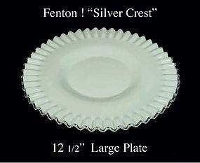 "Fenton Art Glass Silver Crest Large 12"" Chop Plate-Nice"