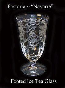 Fostoria Glass Navarre Footed Ice Tea Glass