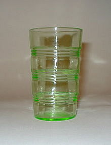 Hocking Green Ring Juice Glass