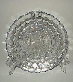 Fire King 1940s Blue Bubble Bullseye Salad Plate