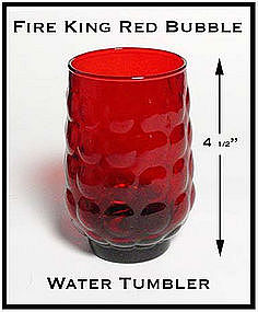 Fire King Royal Ruby Red Bubble Water Tumbler