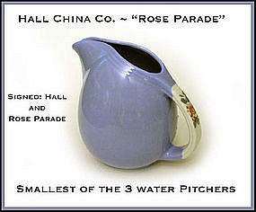 Hall China Rose Parade Smallest of the 3 Serving Jugs
