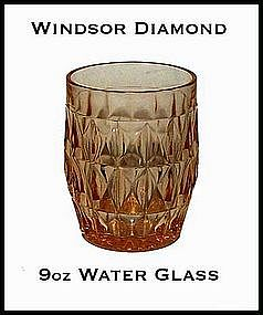 Windsor Diamond Pink 9 oz Water Glass