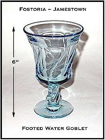 Fostoria Jamestown Blue Footed Water Goblet