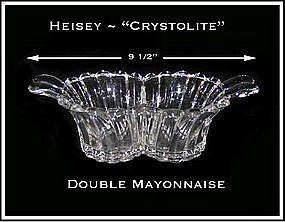Heisey Crystolite Double Mayonnaise Dish