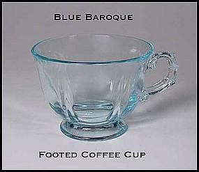 Fostoria Blue Baroque Footed Coffee Cup