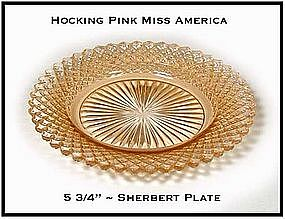 Miss America Pink Sherbert or Bread & Butter Plate