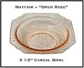 """Mayfair Open Rose Pink 5 1/2"""" Cereal Bowl"""
