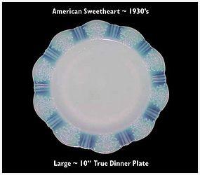 """MacBeth~Evans American Sweetheart 10"""" True Dinner Plate"""