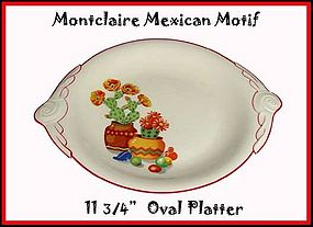 "C.C. Thompson Pottery Mexican Motif 11 1/2"" Platter"