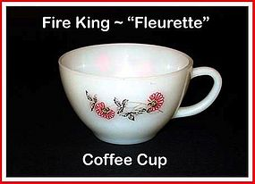Fire King Fleurette Coffee Cup